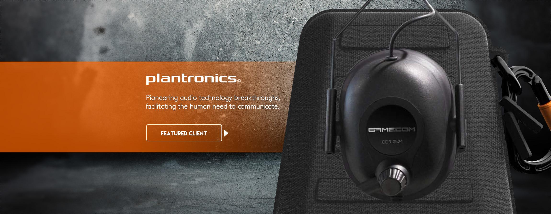Plantronics PLT Commander audio gaming headphones packaging - Graphic Regime Chris Mark