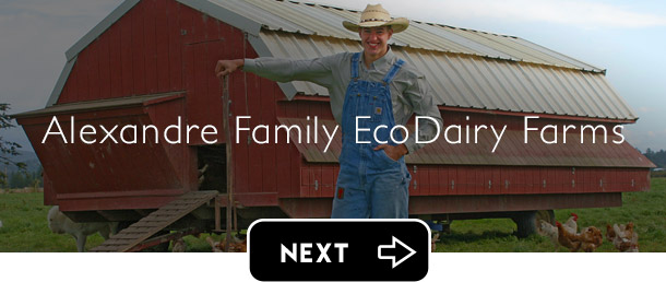 Alexandre Family EcoDairy Farms next button - Graphic Regime