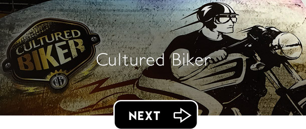 Cultured Biker motorcycle apparel next button - Graphic Regime