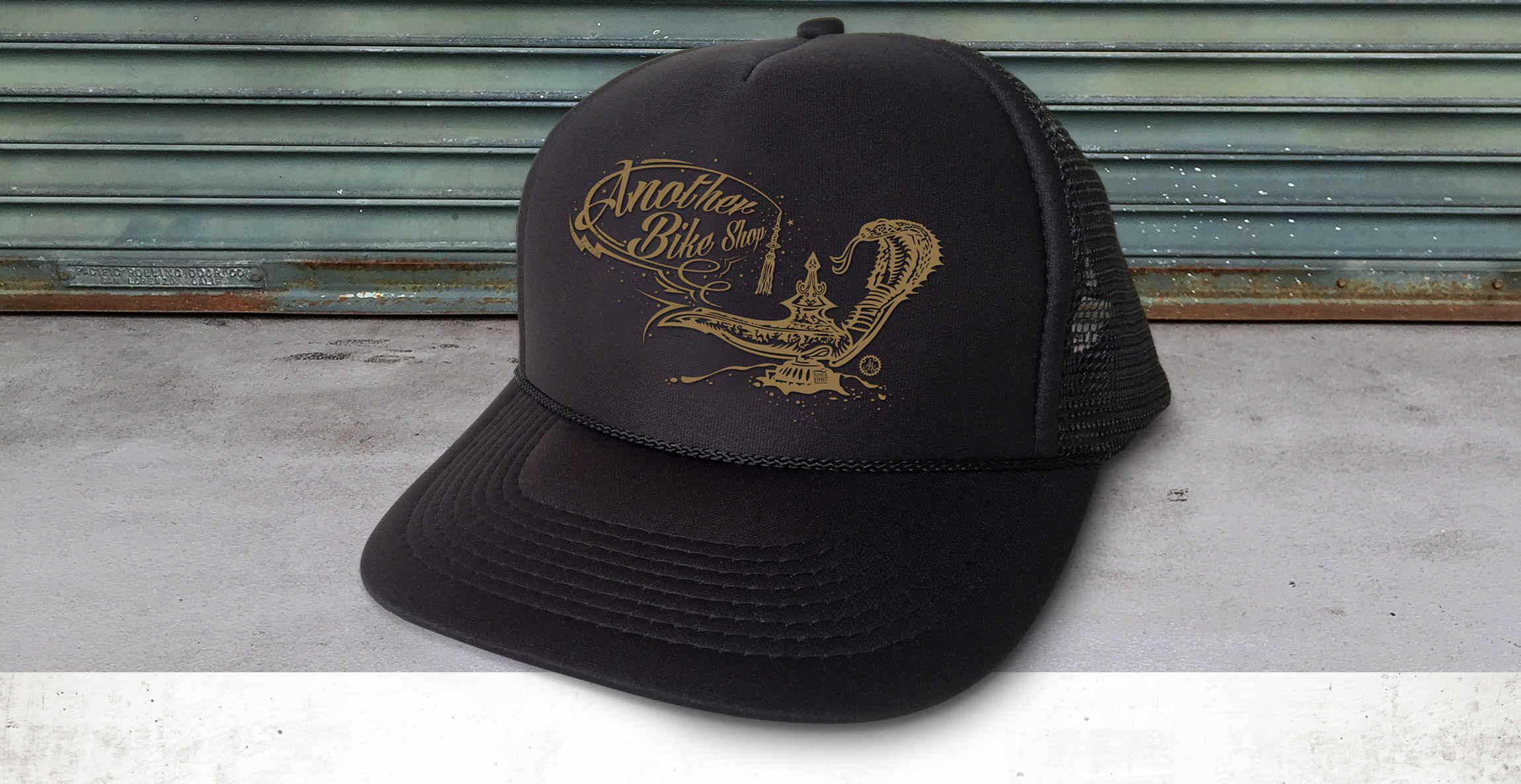 ABS - Another Bike Shop - Magic Carpet genie cobra snake apparel hat design - Graphic Regime