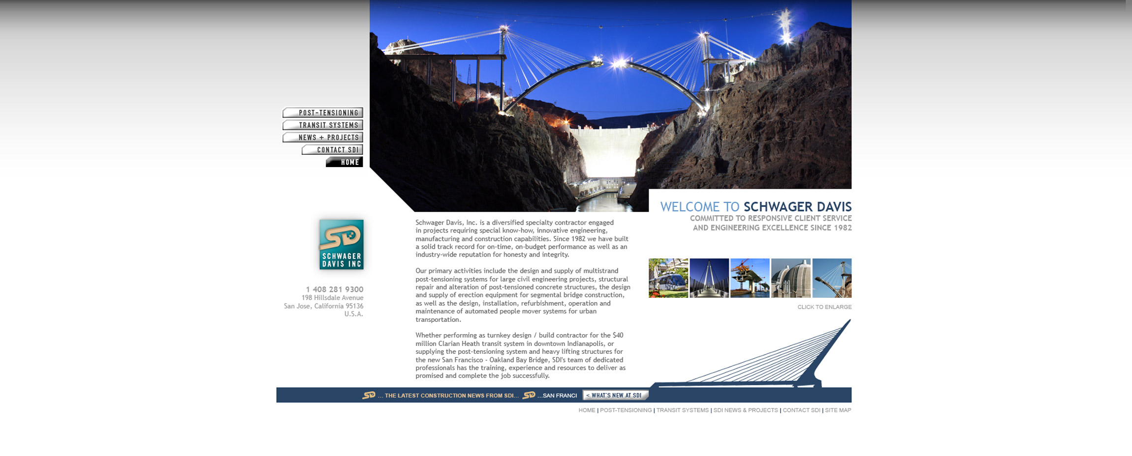 SDI Schwager Davis Inc. construction website home - Graphic Regime