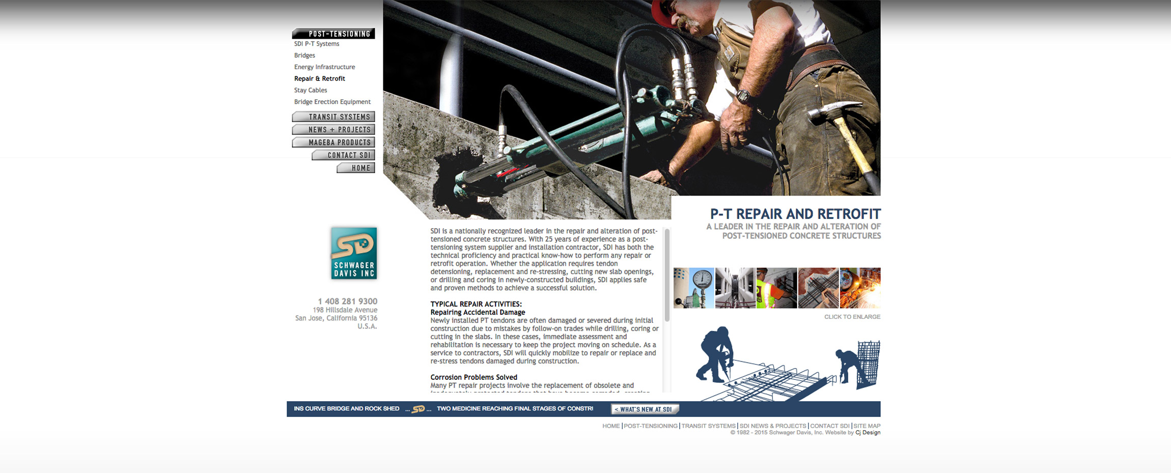 SDI Schwager Davis Inc. construction website pt repair - Graphic Regime