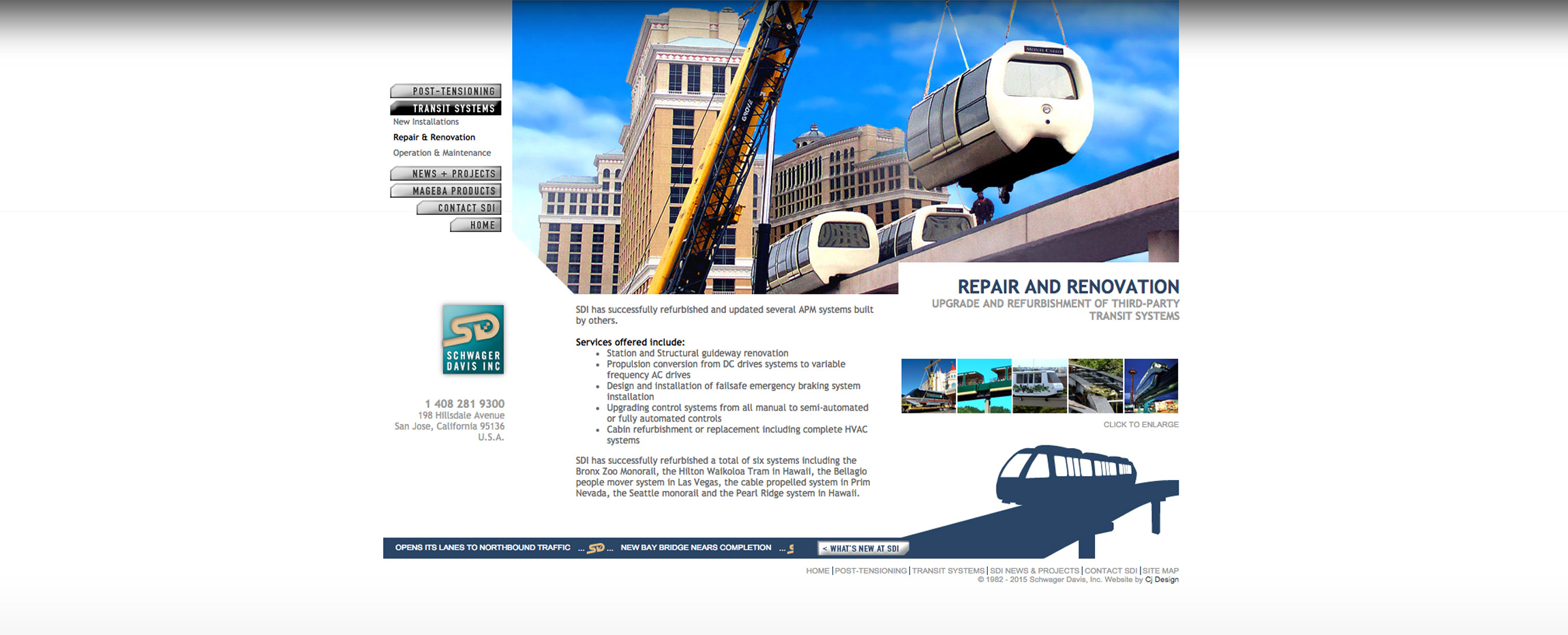 SDI Schwager Davis, Inc. constuction transit repair - Graphic Regime