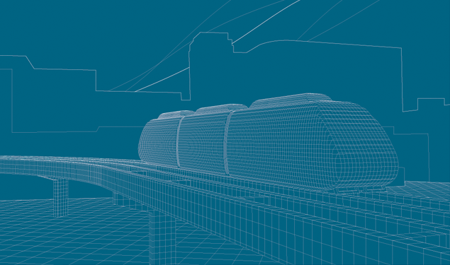 SDI Schwager Davis, Inc. constuction monorail Transit illustration - Graphic Regime