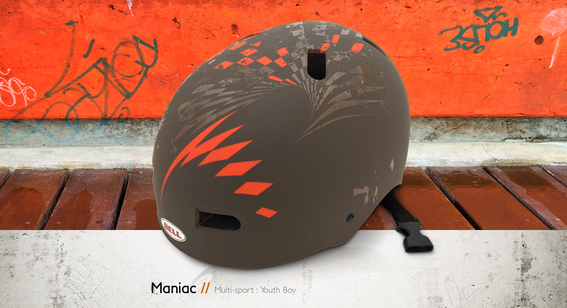 Bell Helmets Maniac multi-sport youth boy bike & skate helmet design - Graphic Regime