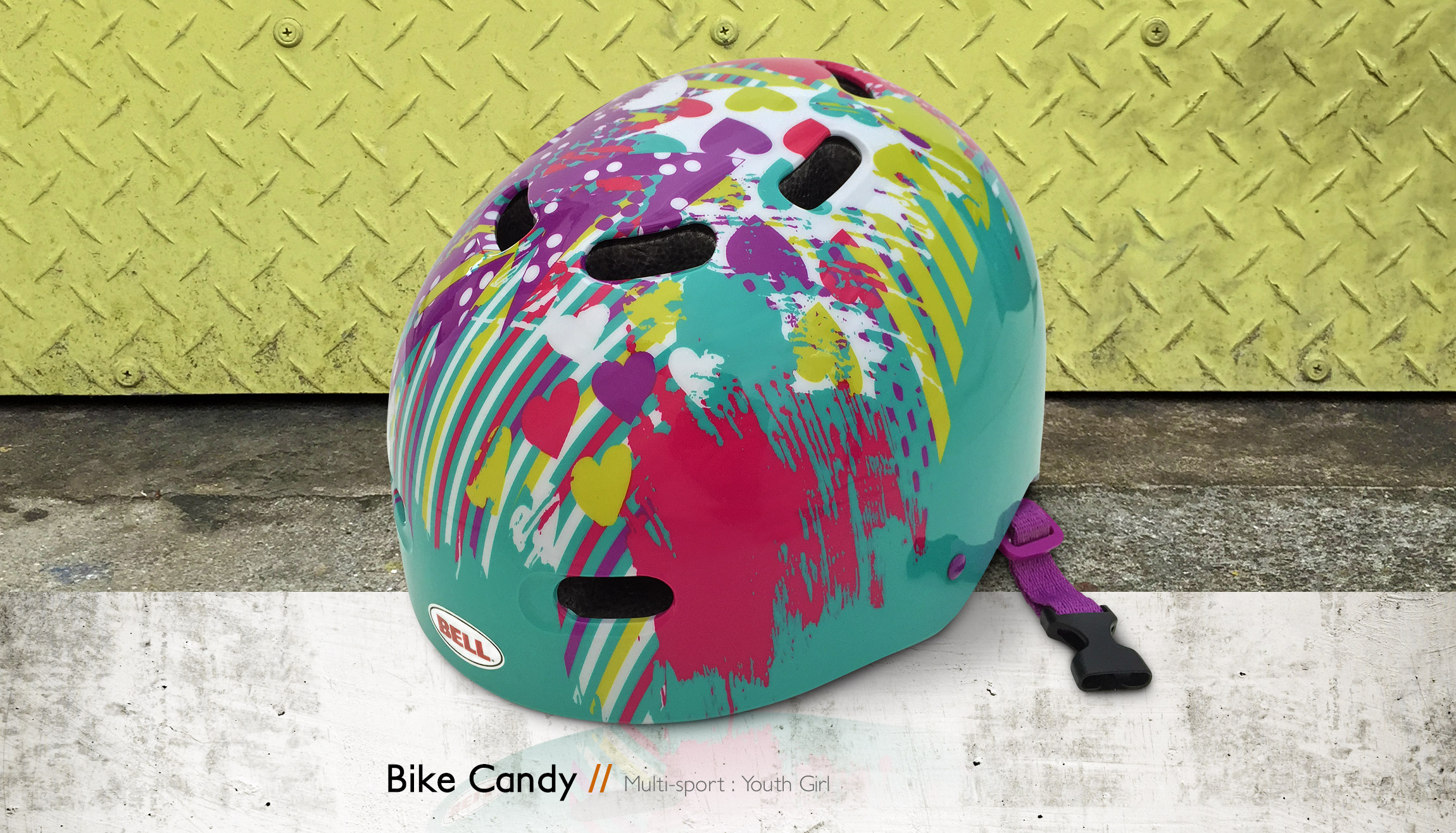 Bell Helmets Bike Candy multi-sport youth girl bike & skate helmet design - Graphic Regime