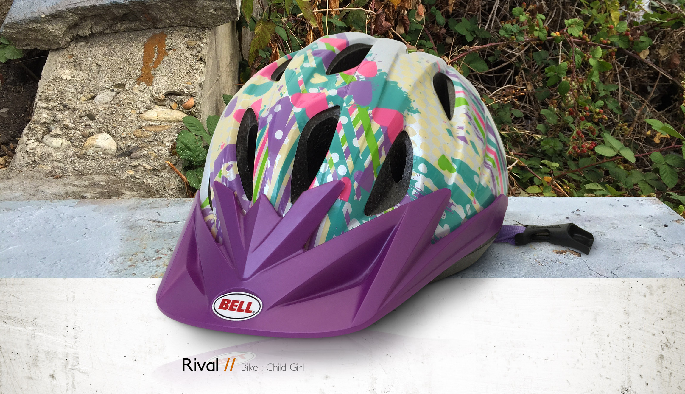 Bell Helmets Rival youth girl bike helmet pattern design - Graphic Regime
