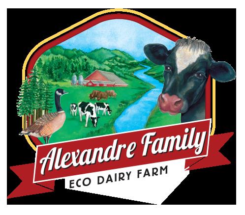 Alexandre Family EcoDairy Farms organic dairy logo concept - Graphic Regime