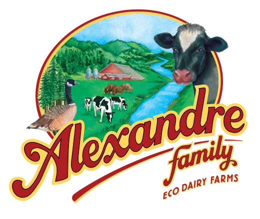 Alexandre Family EcoDairy Farms organic dairy logo design - Graphic Regime