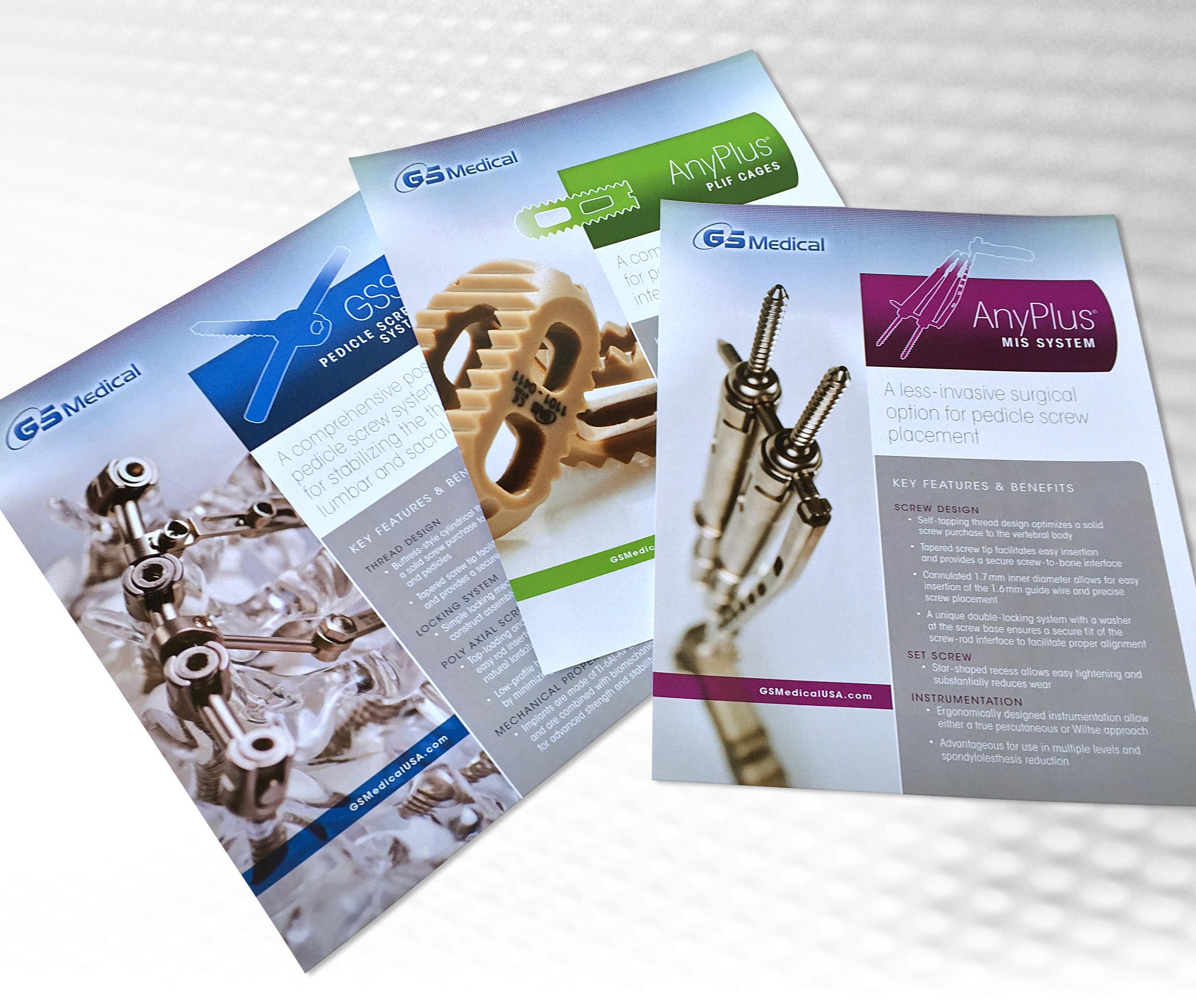 GS Medical USA Cervical Surgery Datasheet Layout Design - Graphic Regime