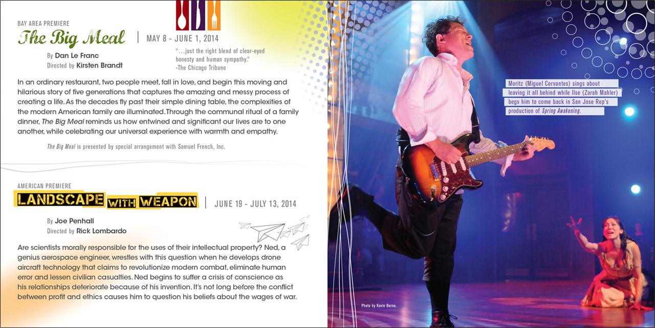 SJ Rep San Jose Repertory Theatre Season of Innovation Brochure Mailer - Graphic Regime