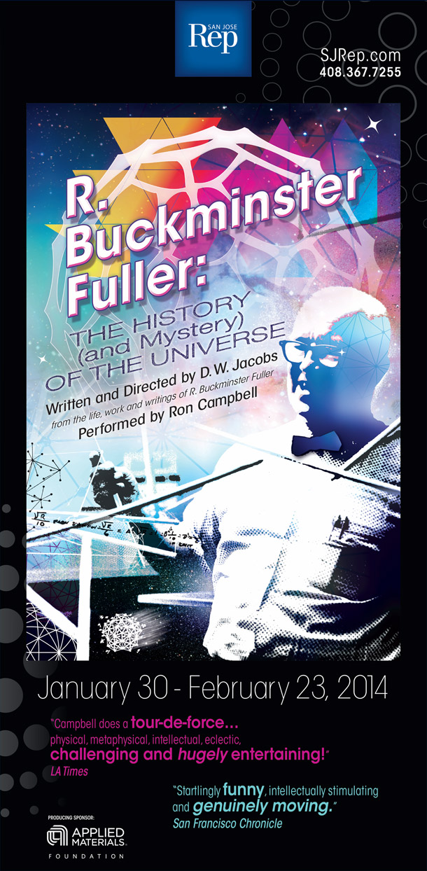 SJ Rep San Jose Repertory Theatre Season of Innovation Poster R. Buckminster Fuller - Graphic Regime