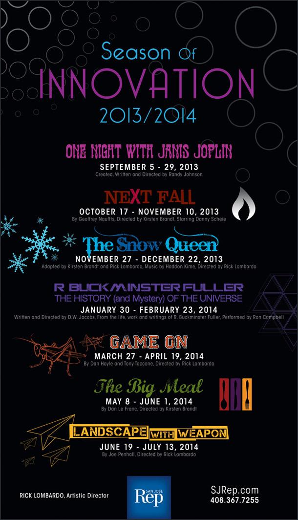 SJ Rep San Jose Repertory Theatre Season of Innovation Poster - Graphic Regime