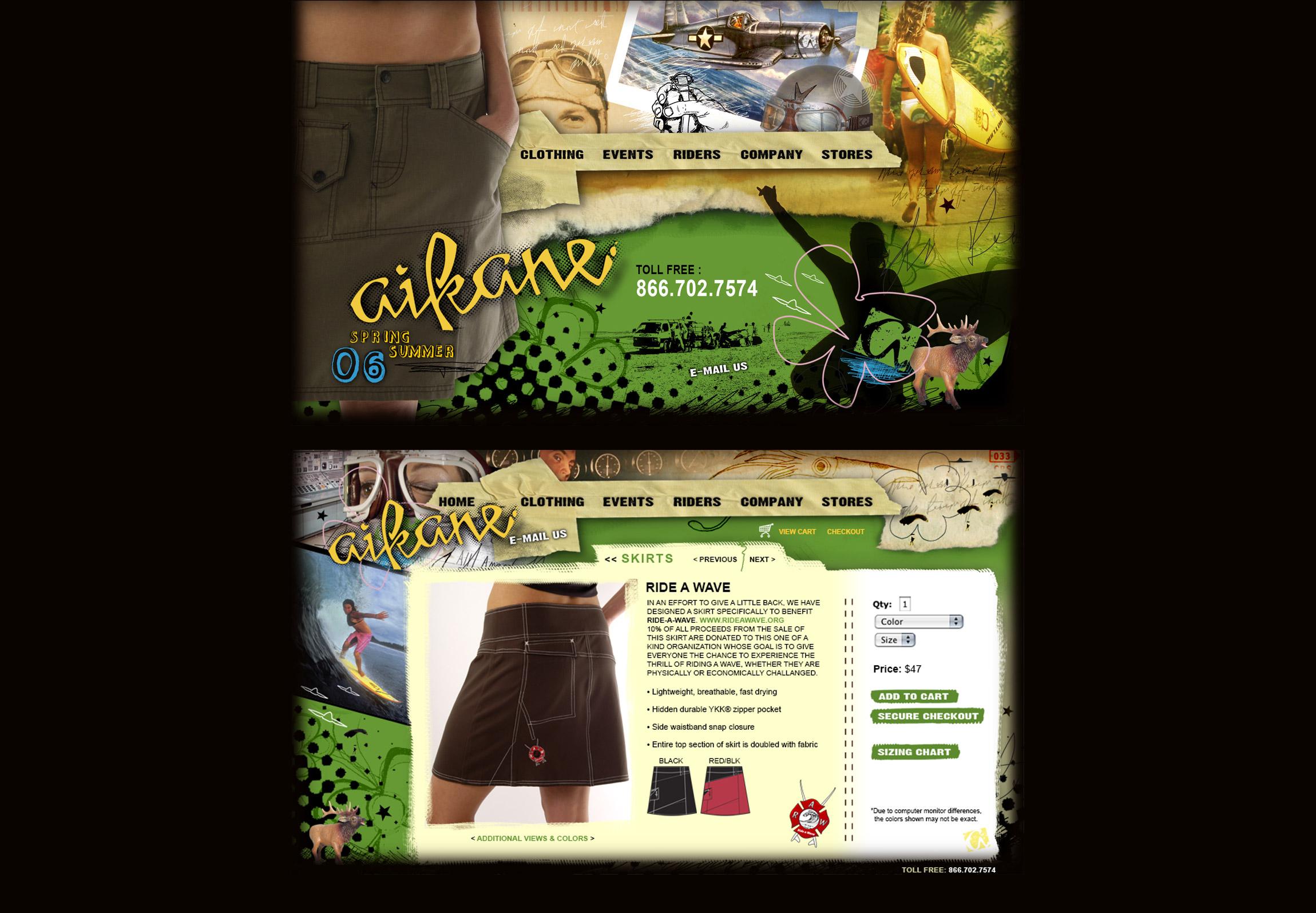 Aikane Surf - womens apparel website - Graphic Regime