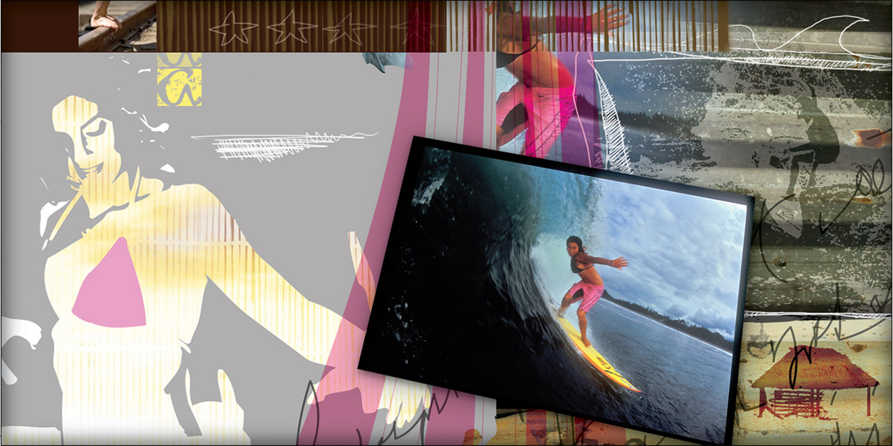 Aikane Surf - womens apparel catalog spread - Graphic Regime