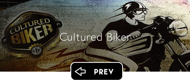 Cultured Biker motorcycle apparel previous button - Graphic Regime