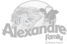 Alexandre Family EcoDairy Farms dairy farm farmers agriculture logo - Graphic Regime client