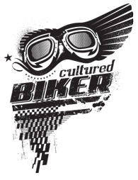 Cultured Biker retro motorcycle goggle apparel tee illustration design - Graphic Regime