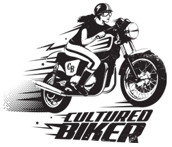Cultured Biker cafe racer vintage American motorcycle apparel tee illustration design - Graphic Regime