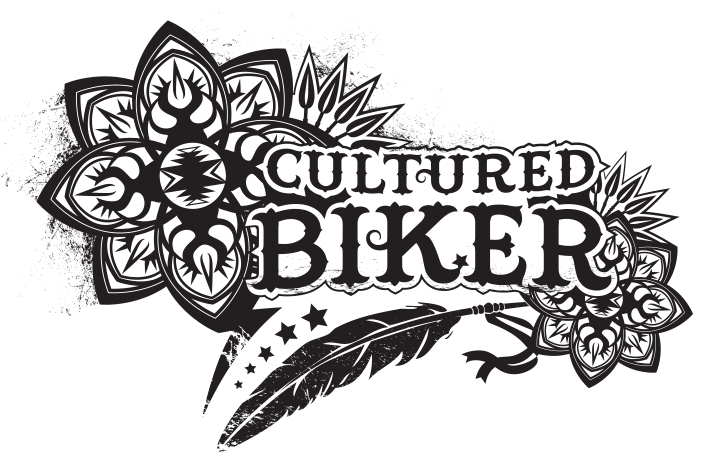 Cultured Biker American motorcycle native desert apparel tee illustration design - Graphic Regime