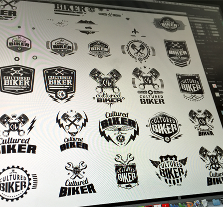 Cultured Biker motorcycle apparel identity logo icon design - Graphic Regime