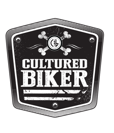 Cultured Biker motorcycle apparel identity logo icon concept design - Graphic Regime