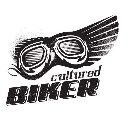 Cultured Biker motorcycle apparel identity goggles logo icon concept design - Graphic Regime