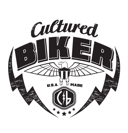 Cultured Biker motorcycle apparel eagle american identity logo icon concept design - Graphic Regime
