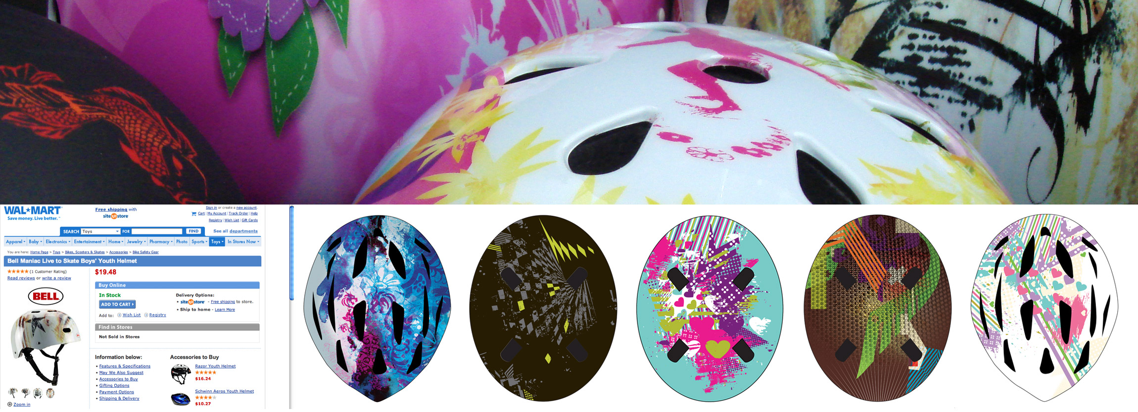 Bell Helmets bike & skate helmet pattern design - Graphic Regime