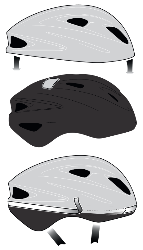 Bell Helmets technical molded bike helmet illustration - Graphic Regime