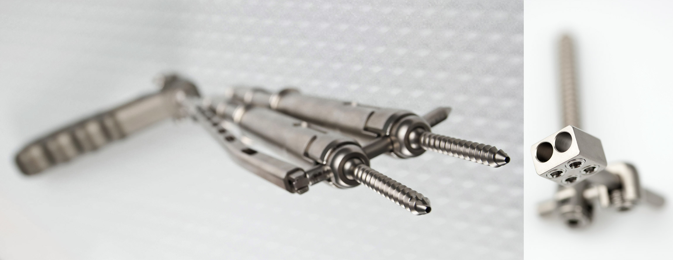 GS Medical USA MIS Cervical Screw System Studio Photography by Josh Sawyer - Graphic Regime