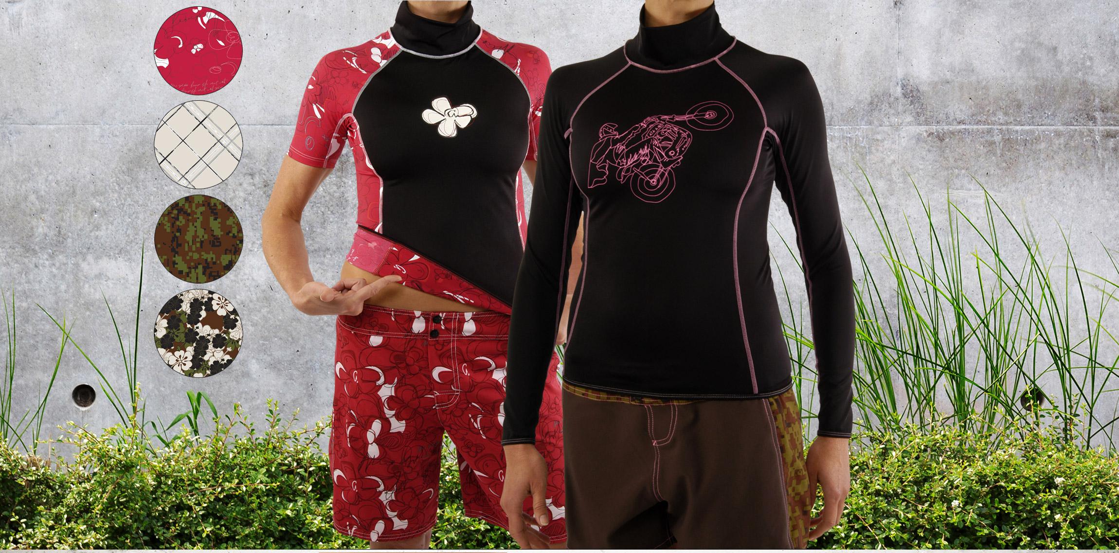 Aikane Surf - womens apparel - rashguards shorts - Graphic Regime