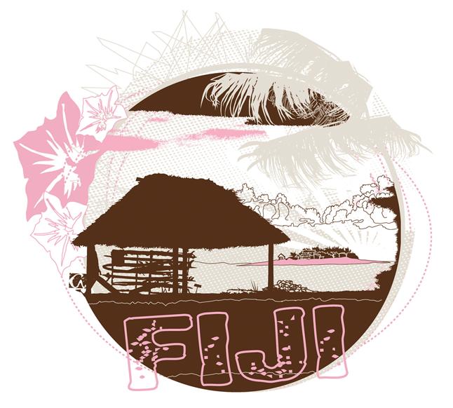 Aikane Surf - womens apparel Fiji tee illustration - Graphic Regime